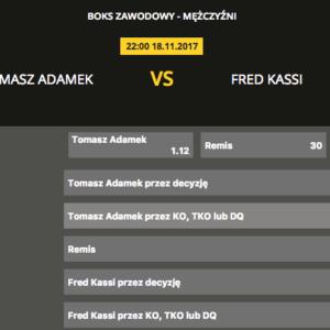Tomasz Adamek – Fred Kassi: Kursy Bukmacherskie