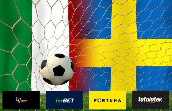 Kursy na mecz Szwecja - Włochy