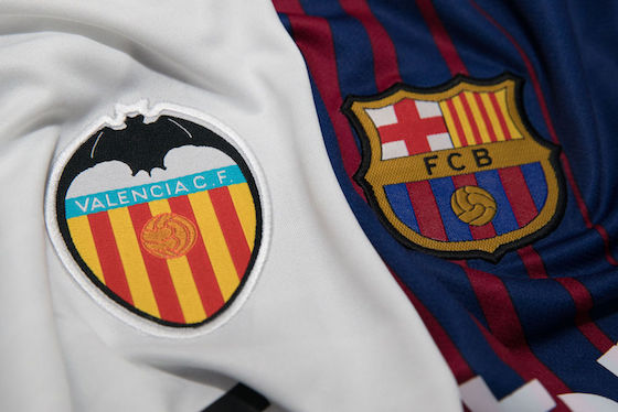 Najwyższe kursy online na mecz Valencia vs Barcelona