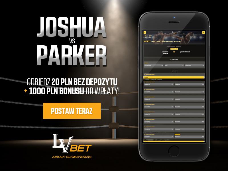 Kursy na zakłady bukmacherskie w walce Joshua vs Parker