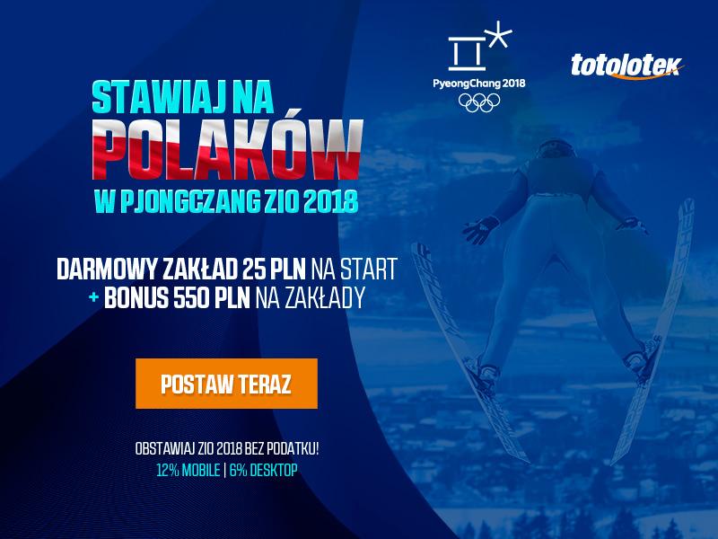 Postaw darmowy zakład na Polaków w ZIO 2018
