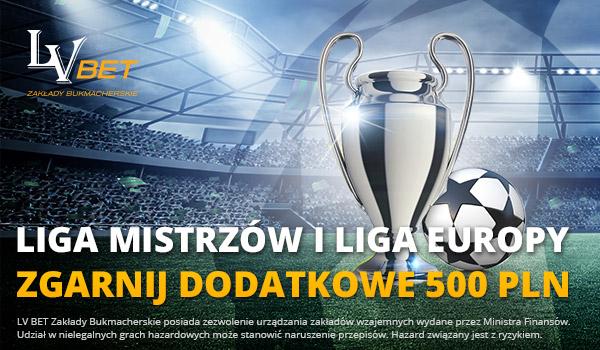 Dodatkowe 500 PLN bonusu za zakłady na LM i LE w LVBET