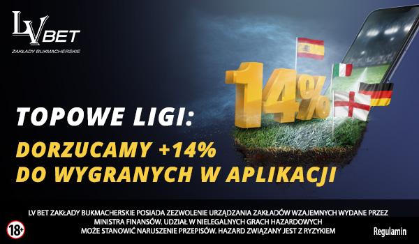 Topowa Liga Europejska w LV BET – 14% do wygranych w aplikacji