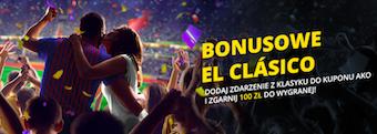 Bonusowe El Clasico w Fortunie. Odbierz dodatkowe 100 zł