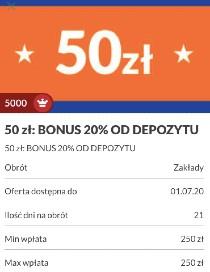 PZBuk bonus 20 % do 50 zł