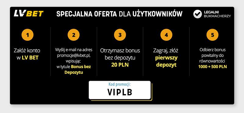 Lvbet kod promocyjny w formularzu