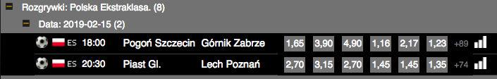 Polska liga - kursy Totolotek