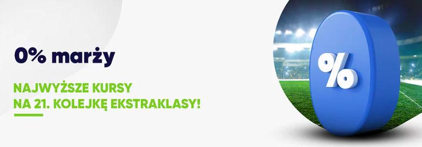 Najlepsze kursy na mecze Ekstraklasy - 21. kolejka