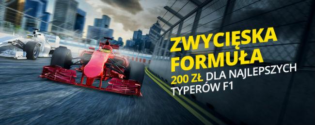 Zwycięska Formuła I Bonus 200 PLN w Fortunie