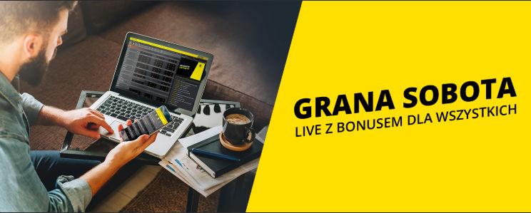 Grana sobota – Bonus na zakłady live w Fortunie