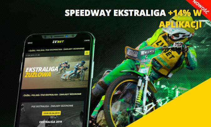 Speedway Ekstraliga +14% w aplikacji LV BET