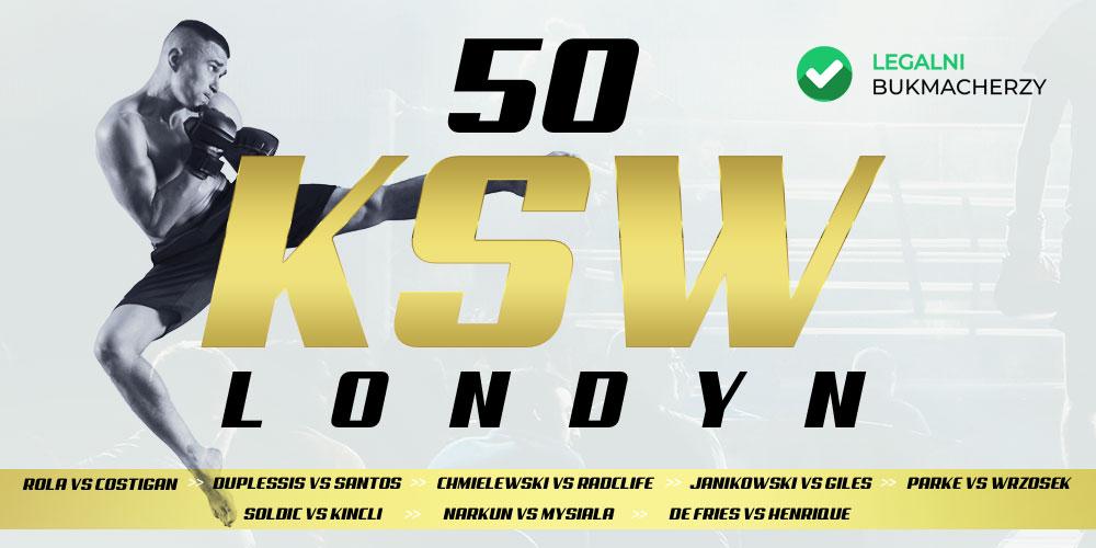 KSW 50 - kursy na walki