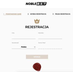 Nowe konto w NobleBet