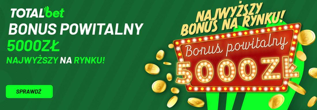 Totalbet bonus 500 zł od wpłaty