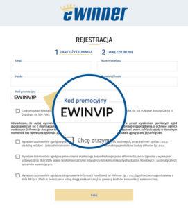eWinner rejestracja z kodem