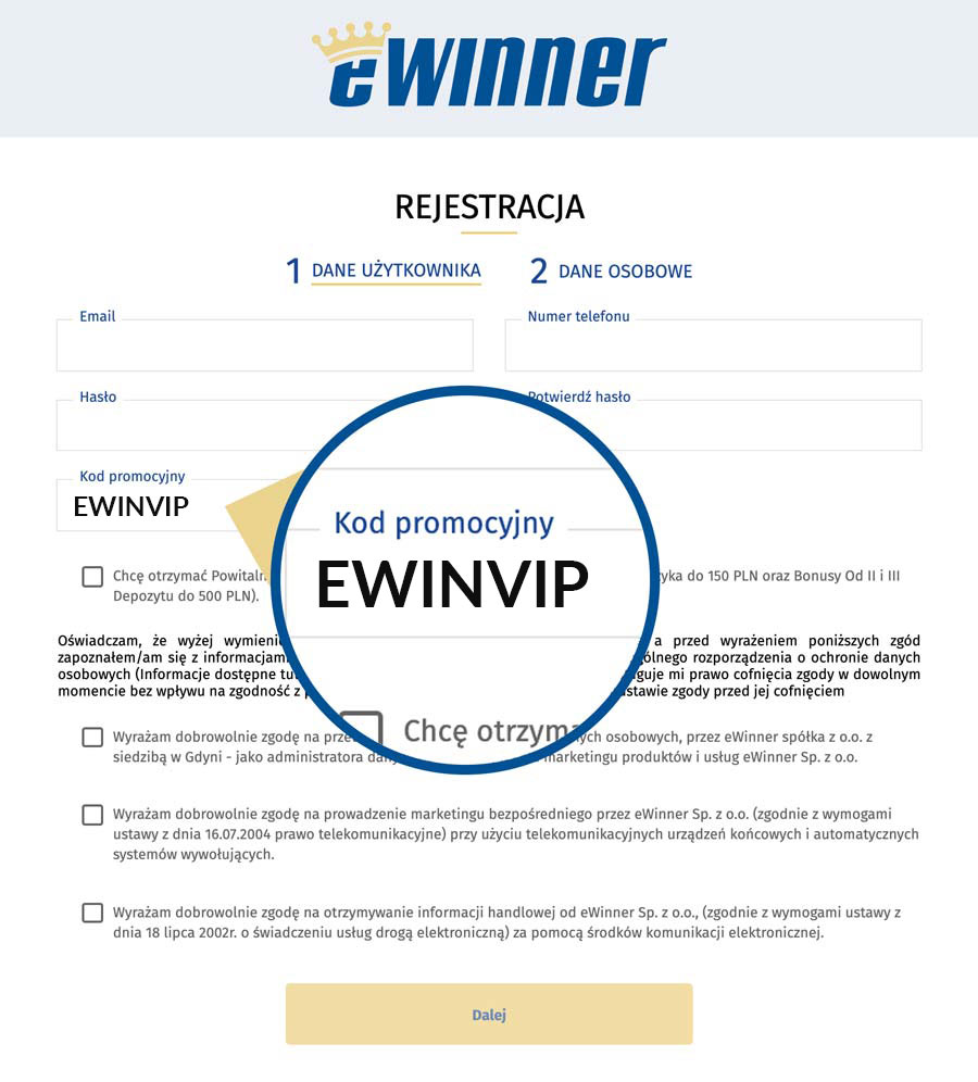 Rejestracja w eWinner