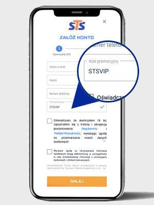 Rejestracja w STS z kodem