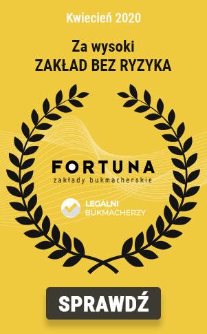 Fortuna - najlepszy bukmacher - kwiecien 2020