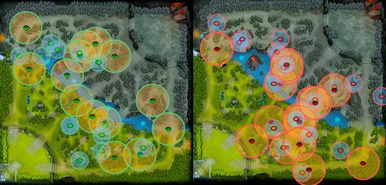 Dota 2 - wizja na mapie