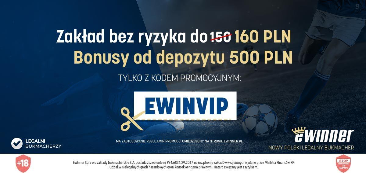 Nowi bukmacherzy w Polsce w 2019 - eWinner oferta VIP