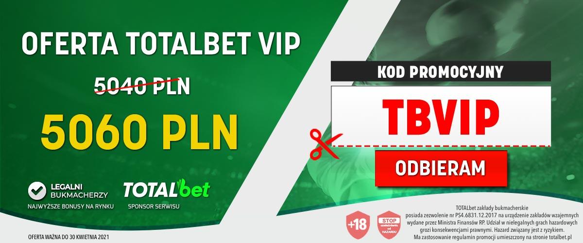 Totalbet kod promocyjny VIP
