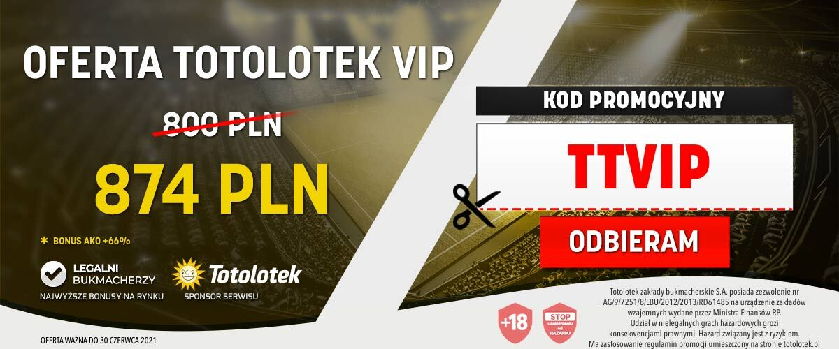 Totolotek kod promocyjny VIP