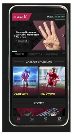 BetX aplikacja mobilna